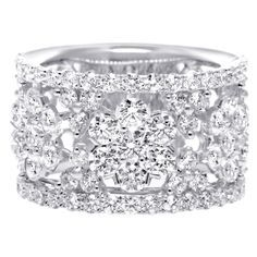 diamond rings wide diamond wedding band - Wedding Rings Bands
