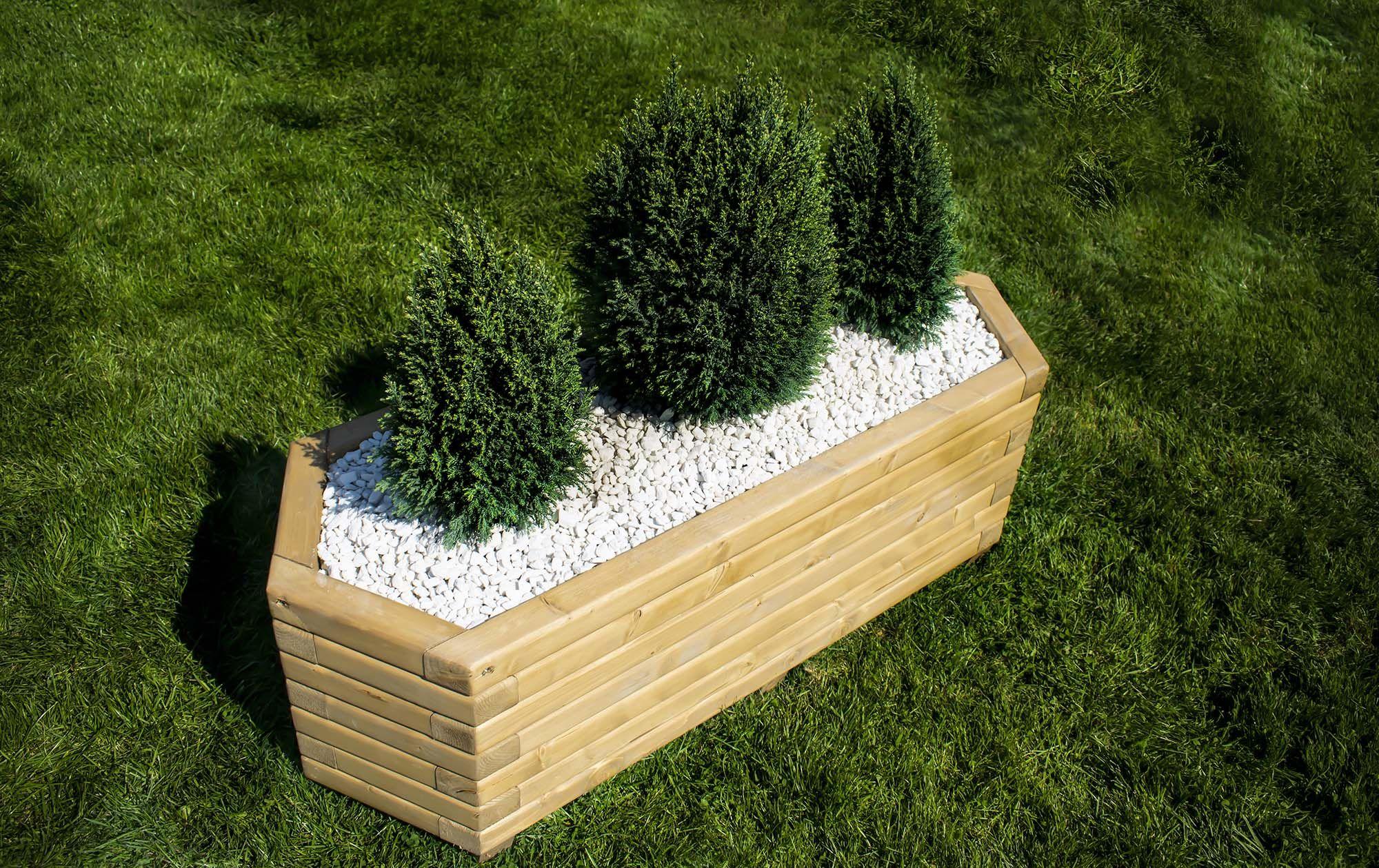 Long Hexagon Planter Second hand garden furniture