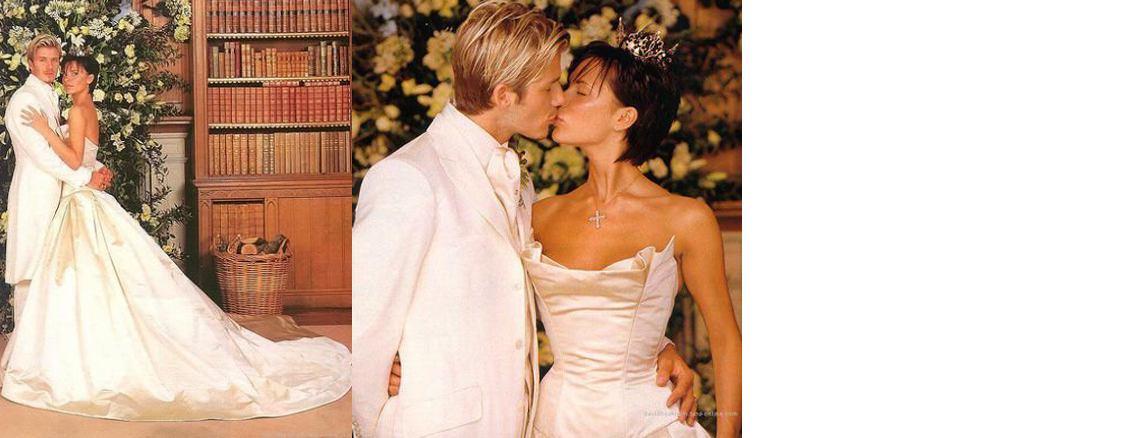 10 Iconic Celebrity Wedding Dresses Victoria Beckham David