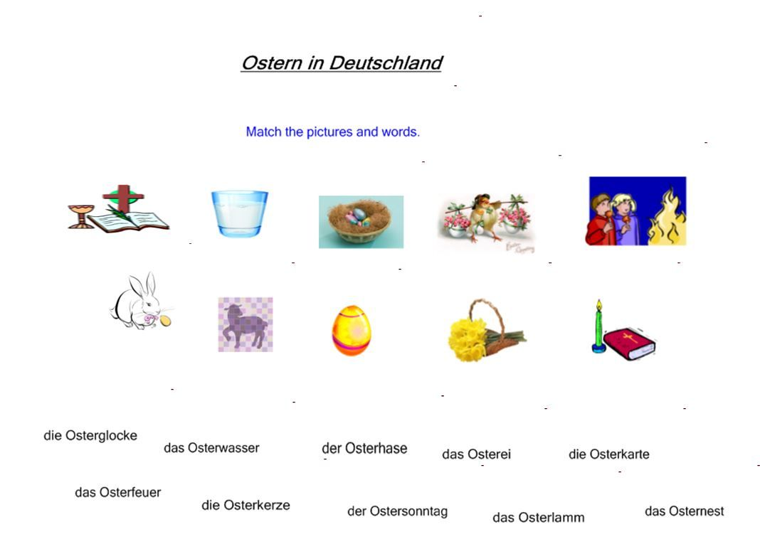KS3-4 Ostern in Deutschland. Reading skills practise, Easter ...