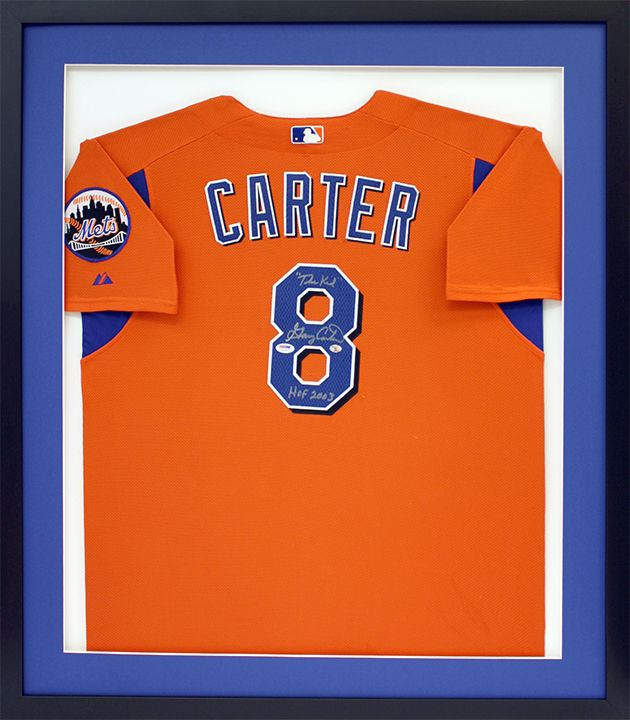 finest selection 64e39 a182a Custom baseball jersey signed by Gary Carter of the New York ...