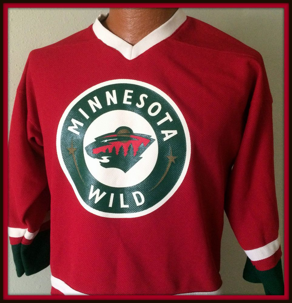 MINNESOTA WILD NHL LICENSED YOUTH XLARGE HOCKEY JERSEY FREE SHIPPING   NHLAPPAREL  MinnesotaWild 156b142f2