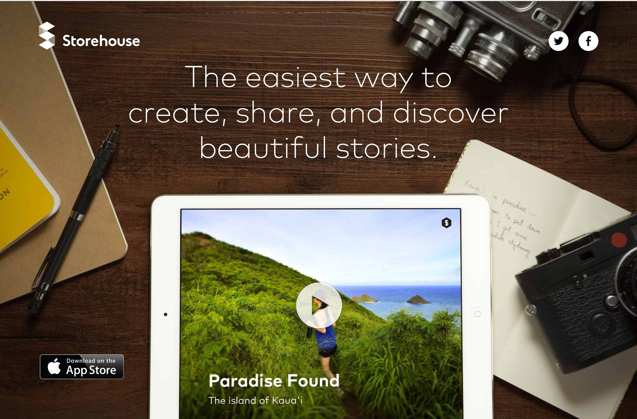 Storehouse: The easiest way to create, share, and discover beautiful stories. Download the app: https://www.storehouse.co
