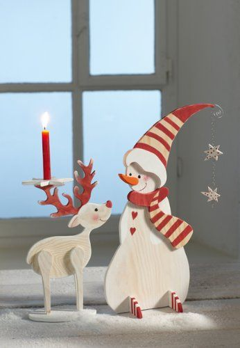 Holzfiguren f r winter weihnachten ingrid for Decoration de noel amazon