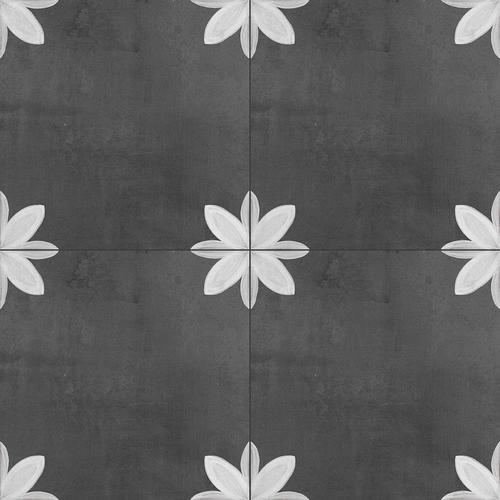 Della Torre Fiona 29 Pack Black And White 8 In X 8 In Glazed Porcelain Encaustic Floor And Wall Tile Lowes Com Black And White Tiles Floor And Wall Tile Wall Tiles