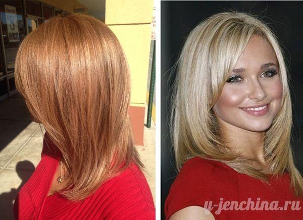 стрижки на средние волосы фото каскадом