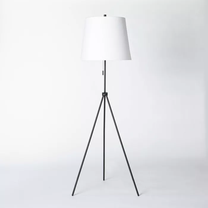 Adjustable Tripod Floor Lamp Black Threshold Designed With