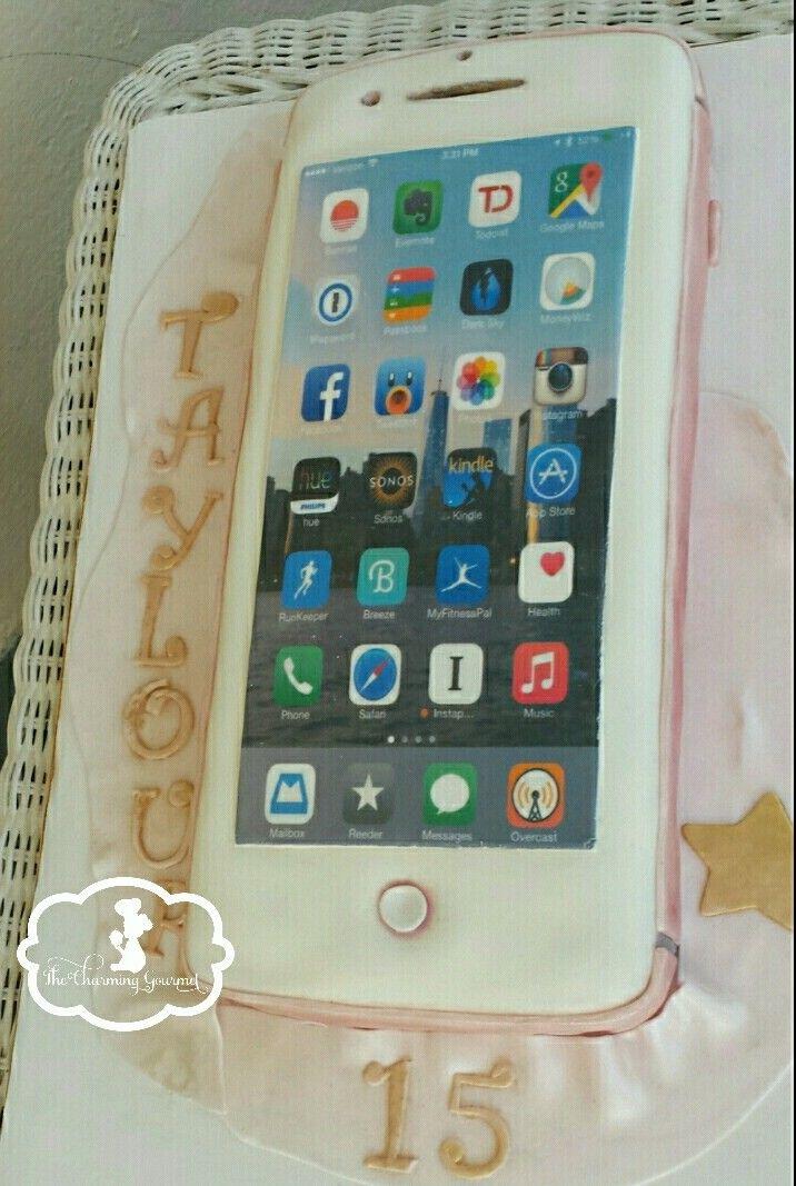 Iphone 6 Cake Iphone Cake Iphone Rose Gold Rose Gold Iphone Cake