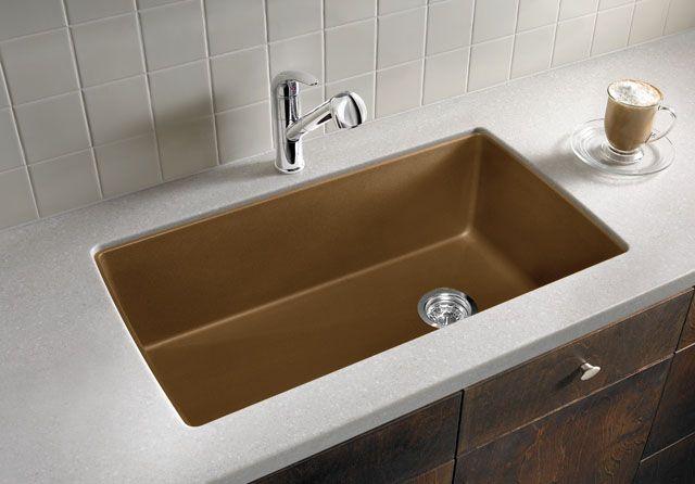 Blanco granite composite undermount sink option- comes in white ...