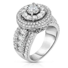 Sams Club 270 ct tw Regal Engagement Ring in 14K White Gold