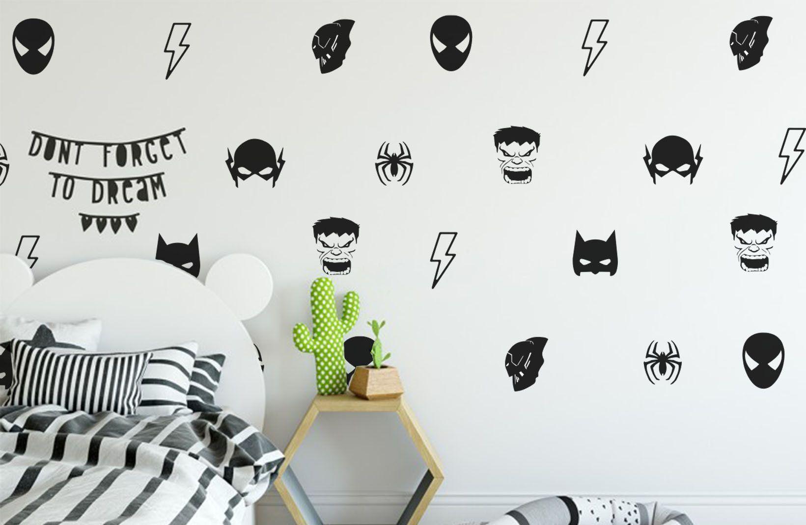 Batman Mask Wall Decal Avengers Decals Hulk Decals Spider Man