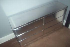 Diy Faux Silver Leaf And Or Faux Mirrored Dresser Tutorial Aka My