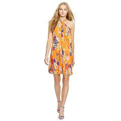 Fl Print Silk Halter Dress Polo Ralph Lauren Maxi Dresses Ralphlauren