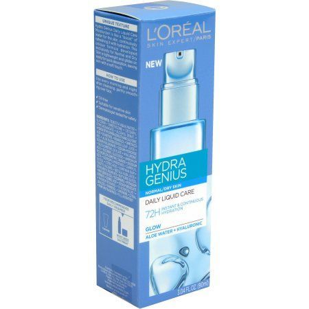 L Oreal Paris Hydra Genius Daily Liquid Care For Normal To Dry Skin 3 04 Fl Oz Walmart Com Loreal Paris Loreal Moisturizer For Dry Skin
