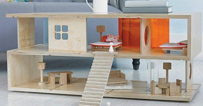 Une de table basse qui fait aussi maison de Une poupée | Table basse, Bas 1388e1
