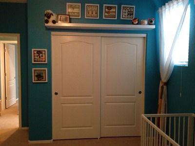 Shelf Above The Closet Bedroom Closet Doors Closet Door