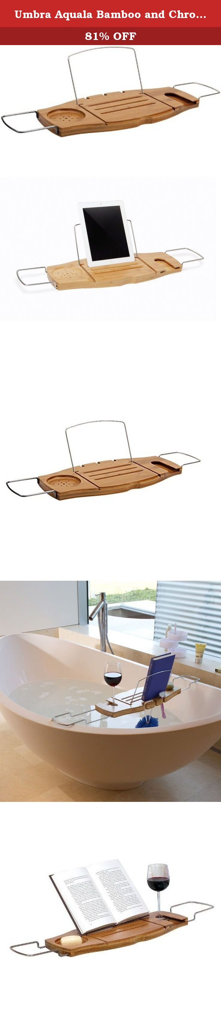 Umbra Aquala Bamboo and Chrome Bathtub Caddy Umbra on Amazon.com ...