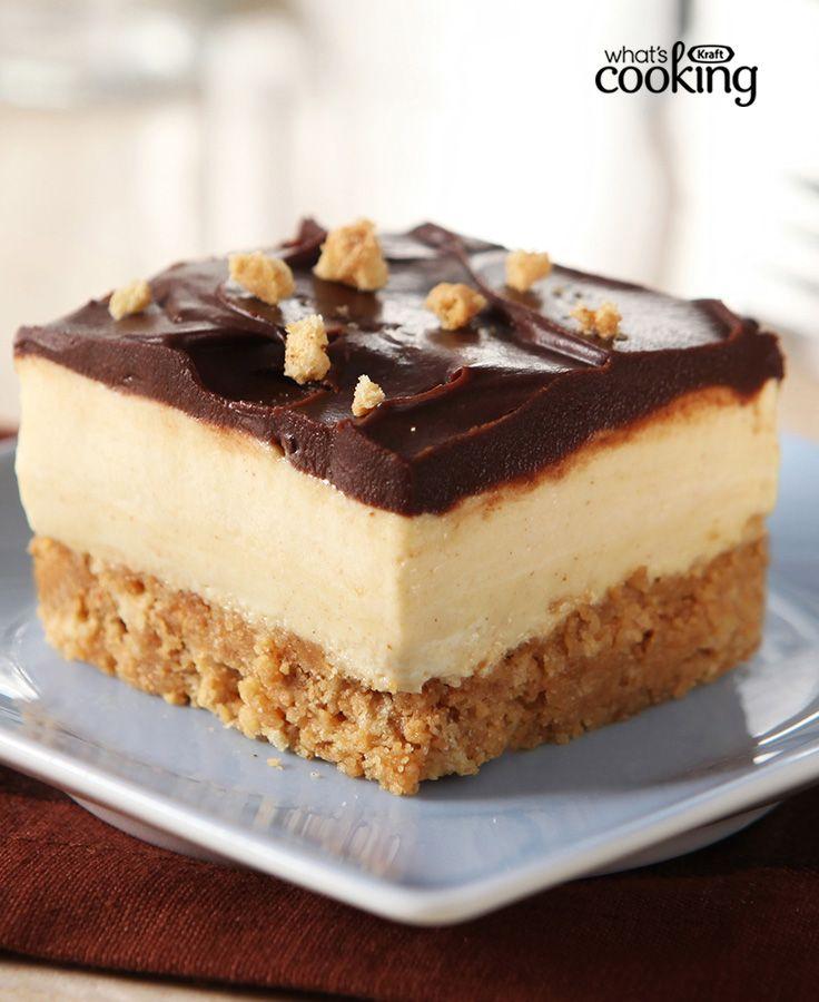 Peanut Butter Dessert Recipes: Peanut Butter Cup Squares #recipe