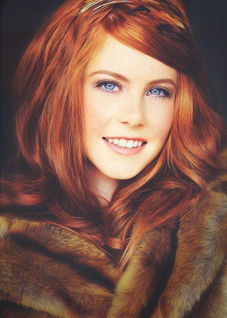 Redhair, blue eyes