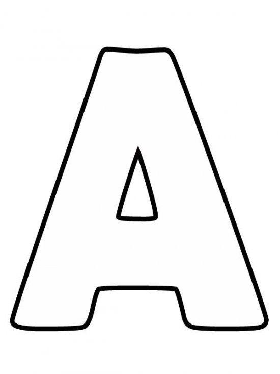Большая буква А | Алфавит трафареты, Трафареты букв ...