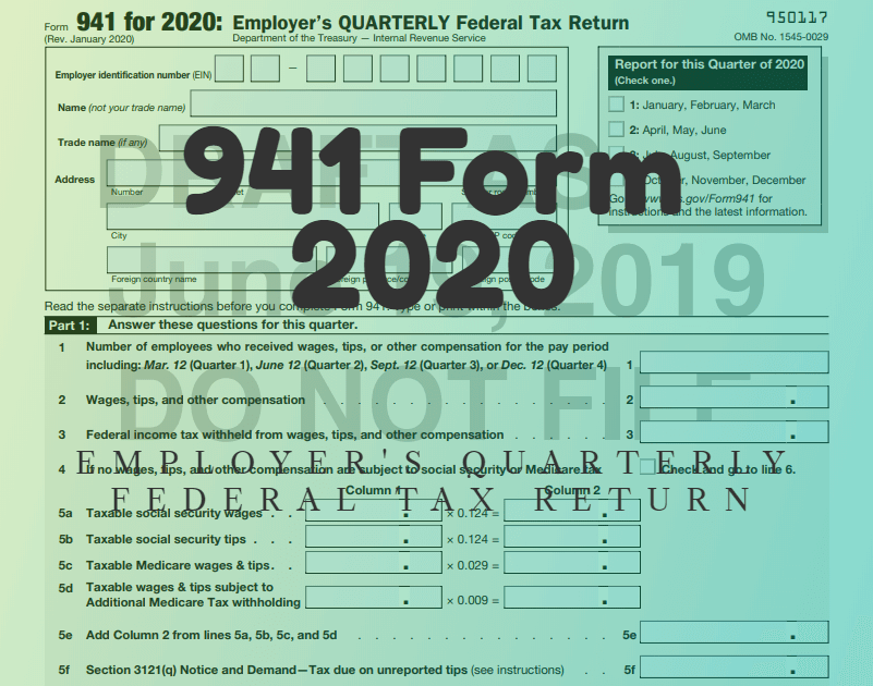 941 Form 2020 Futufan Futufan 941forms Money Irs Finance
