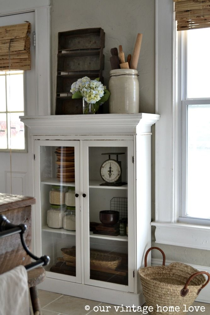 our vintage home love: this cabinet!! would be perfect for my empty ...