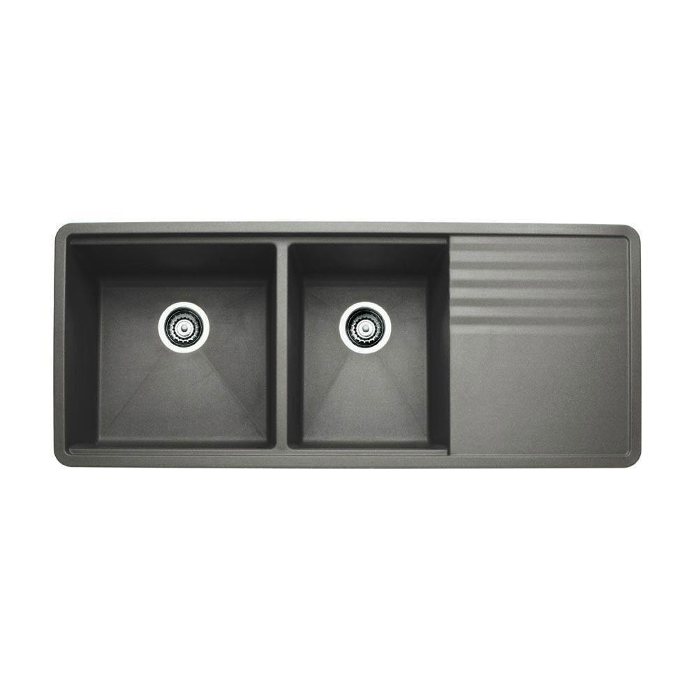 Blanco Silgranit Naya 8s Double Bowl Drainer Black Inset Sink Black Kitchen Sink Kitchen Sink