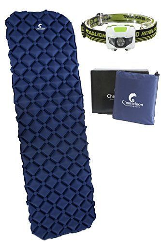 Durable Ultralight Sleeping Pad by Chameleon Comfortable Easy Inflatable Backpacking Mat - C&ing Mattress u2013 Compact Lightweight Thick Outdoor Tent Airbed ...  sc 1 st  Pinterest & Durable Ultralight Sleeping Pad by Chameleon: Comfortable Easy ...