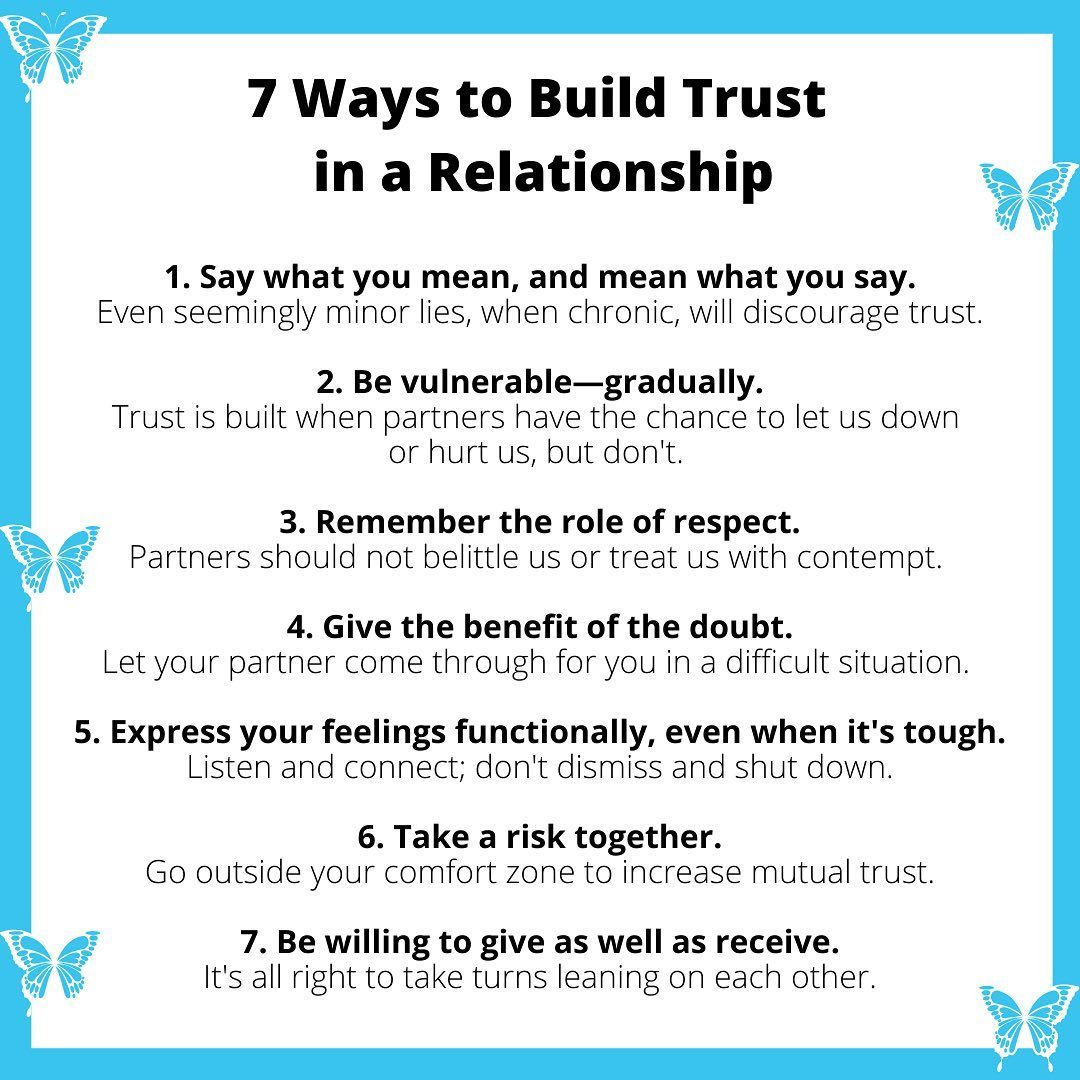7 Ways To Build Trust In A Relationship Trust In Relationships Relationship Lessons Healthy Relationship Tips