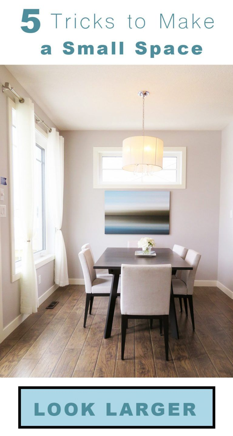 5 tips for making a small room or space feel bigger