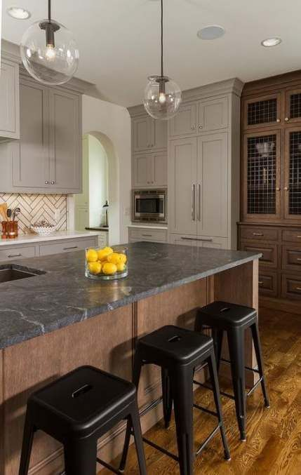 farmhouse kitchen black soapstone countertops 16 ideas kitchen farmhouse trendy farmhouse on kitchen remodel dark countertops id=34804