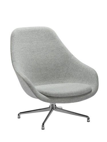 HAY About A Lounge Chair High AAL91 stoel - grijs | Woonkamer ...