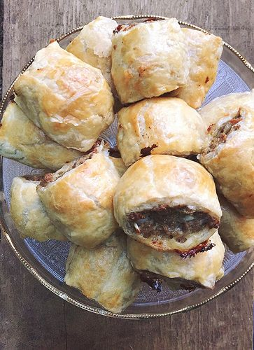 Looking for delicious and easy appetizers to nibble on these australian style sausage puffs are a perfect dinner entree that are easy to make and check that something different box slice them smaller and you have a forumfinder Images