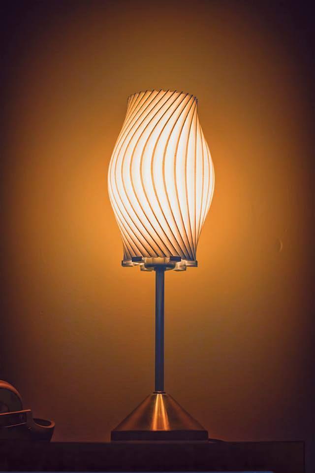 Twisted Lamp Shade By Vivifyer Thingiverse Lamp Lamp Shade Wood Lamps