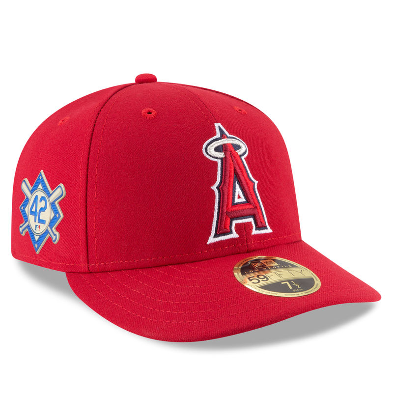 buy popular 2c69e d9d2c Los Angeles Angels New Era 2018 Jackie Robinson Day Low Profile 59FIFTY  Fitted Hat – Red
