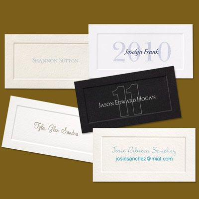 name cards for graduation