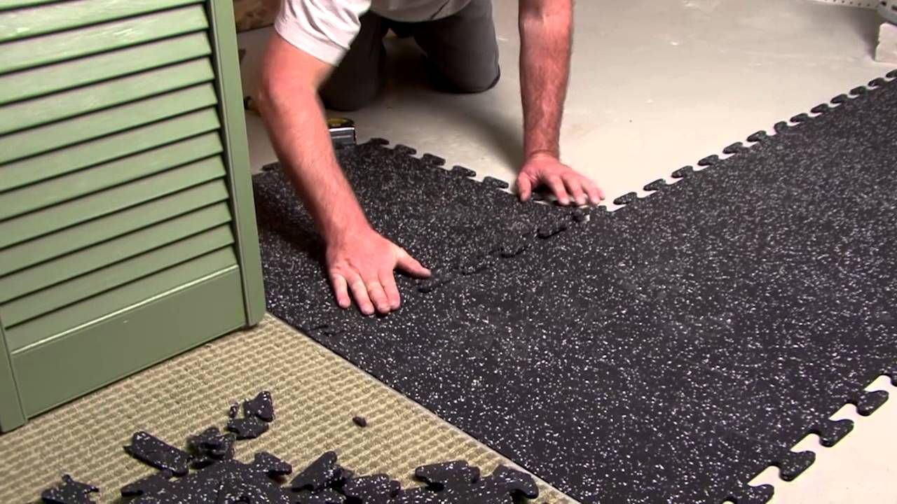 EZFlex Interlocking Recycled Rubber Floor Tiles Rubber