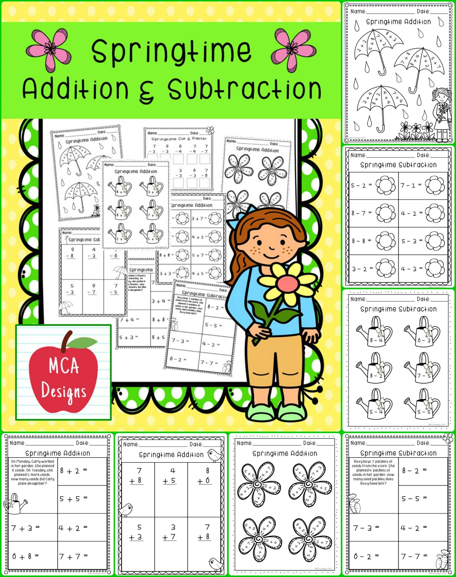 Springtime Addition Amp Subtraction