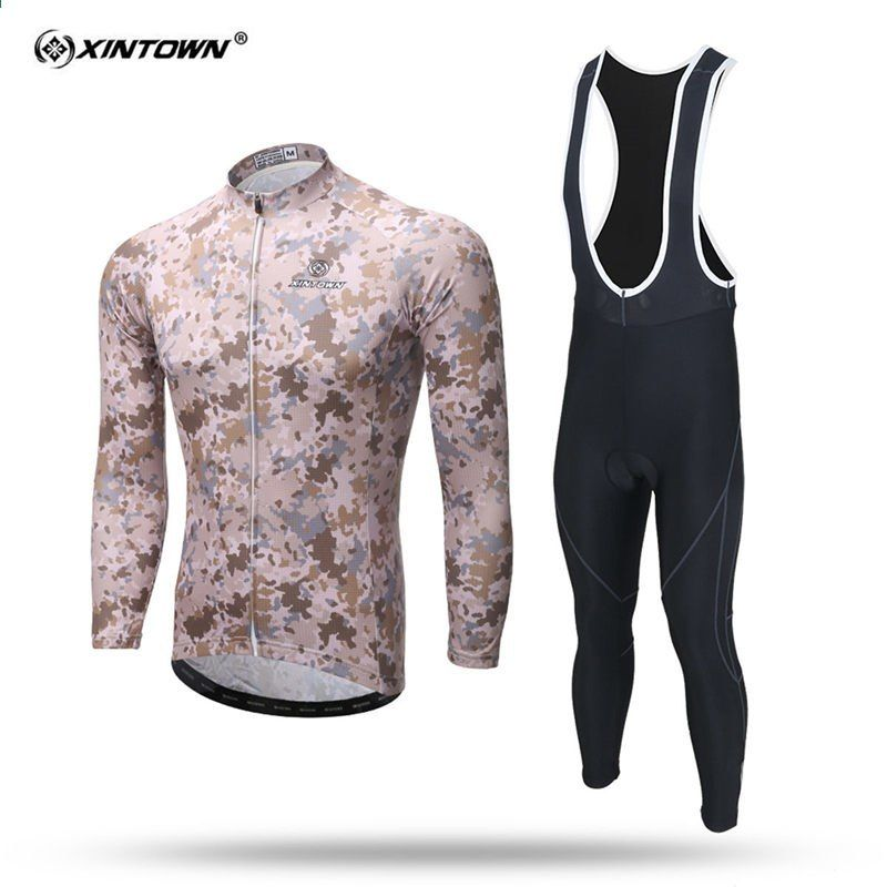 new styles good texture get cheap XINTOWN Uomo Maglia manica lunga ciclismo Set MTB Bicicletta ...