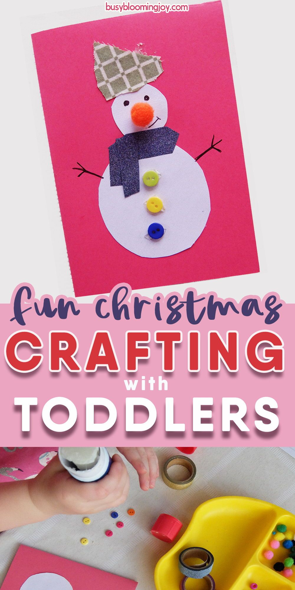 Homemade snowman Christmas card to make with your toddlers