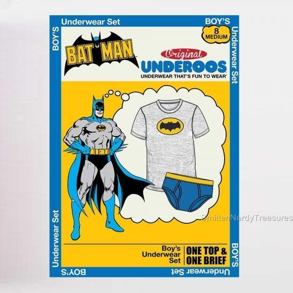 6f2edd2de95 DC-COMICS-UNDEROOS-Official-Licensed-BOYS-BATMAN-Underwear-Set-BRIEFS -Super-Hero