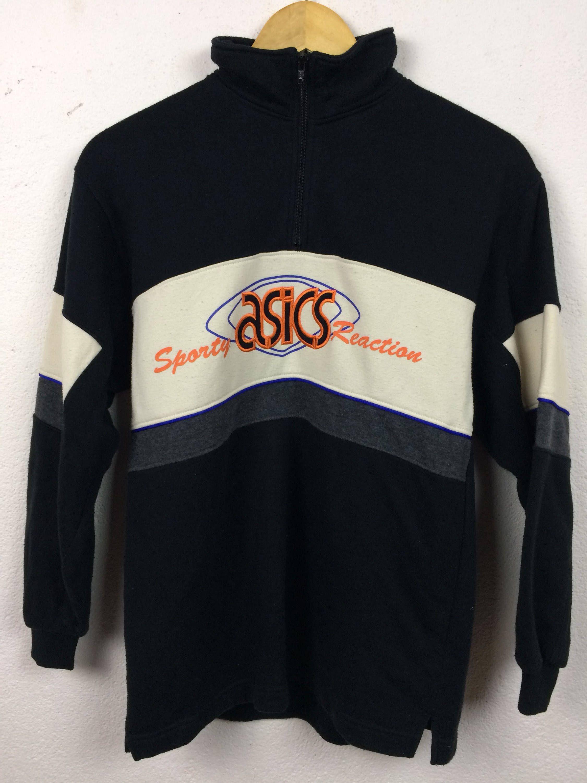 Vintage 90s Asics Sport Reaction Embroidered Logo Sweatshirt ...
