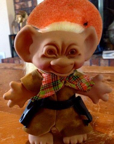 Cowboy troll doll 1966. Missing guns.