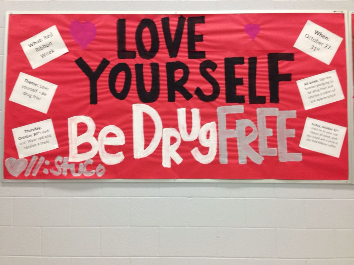 Red Ribbon Week Bulletin Board