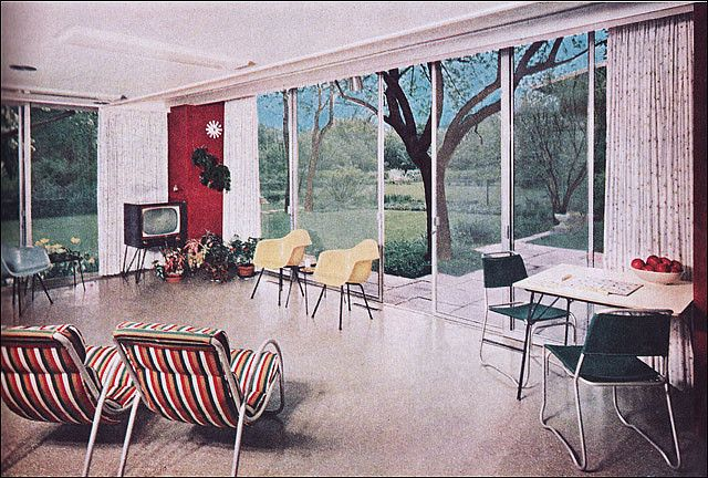 1955 modern rec room by american vintage home via flickr - Table De Salle A Manger Ikea1962
