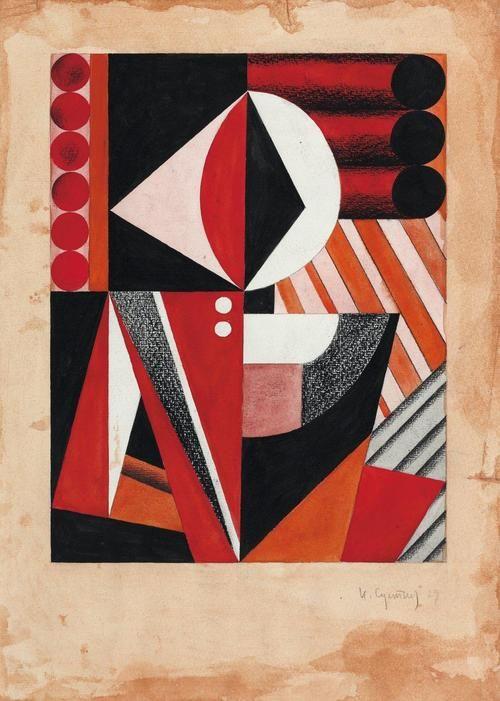 Peasant Woman 1929 Gouache Aquarelle Et Pastel Sur Papier