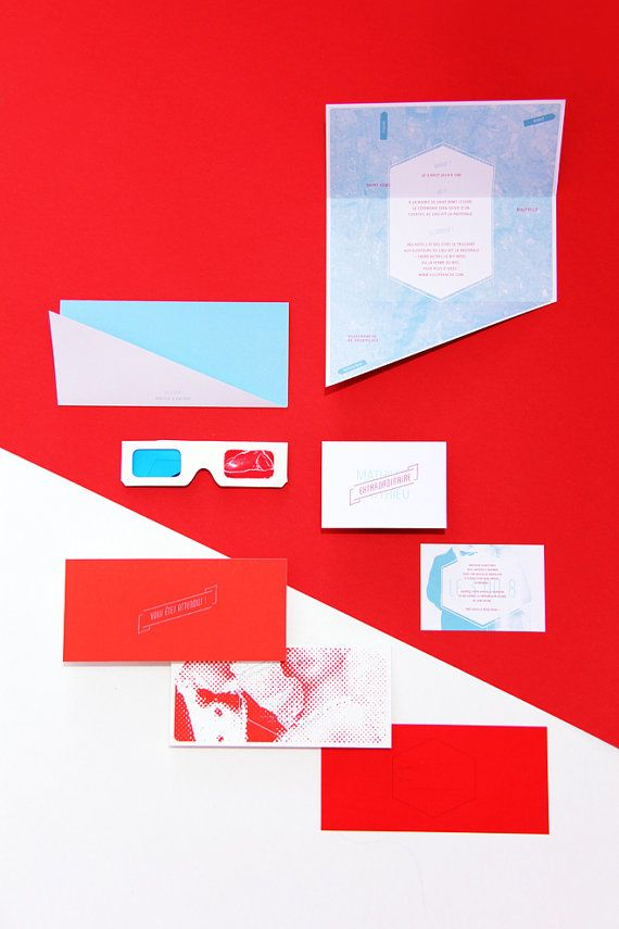 funny personal wedding card matter%0A Wedding invitation  D Anaglyph glasses by AllonsyAlonsodesign