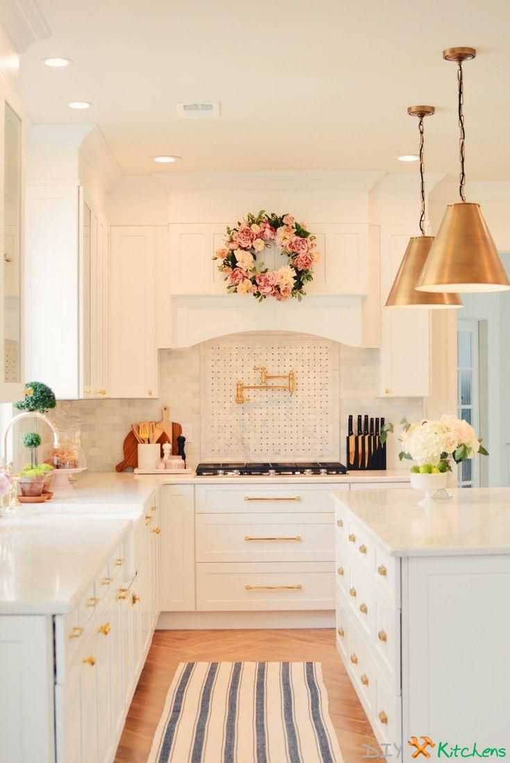 Kitchen Remodel Before and After A Classic White Kitchen #kitchen