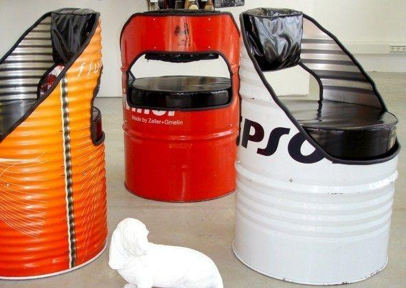 comment recycler de vieux bidons en fer bricolage pinterest comment recycler bidon et vieux. Black Bedroom Furniture Sets. Home Design Ideas