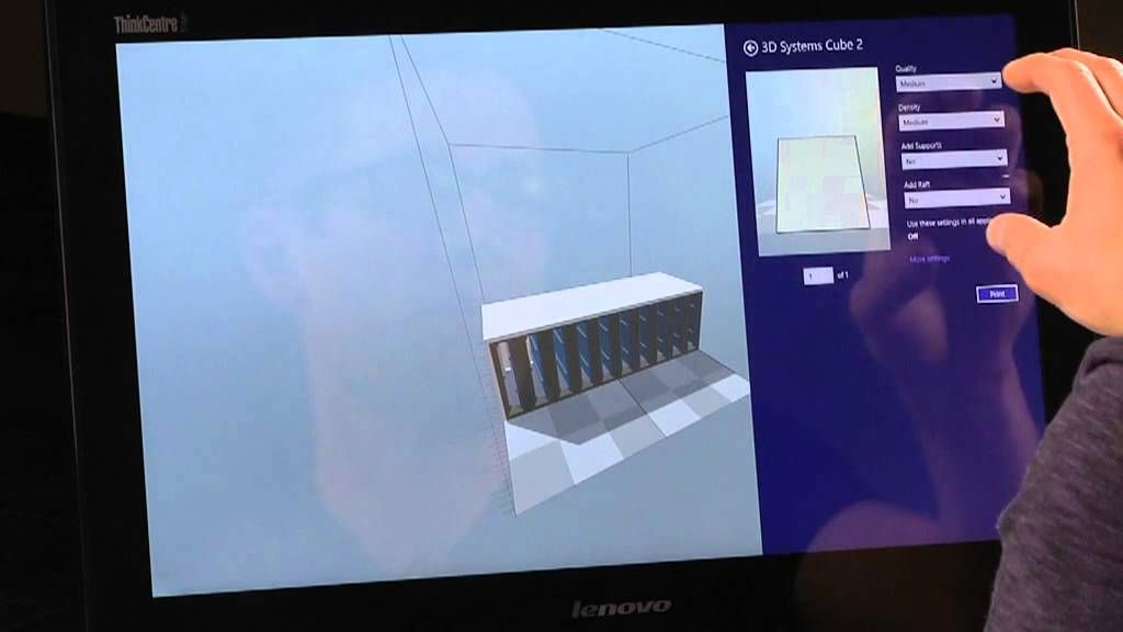 3D Printing Support in Windows 8 1 - Video Demo | 3D